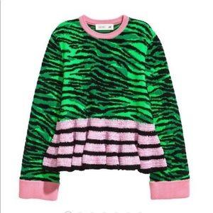 Kenzo x H&M zebra crochet sweater